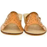 Boty Ženy Papuče Just Mazzoni Dámske kožené hnedé papuče INGA ťavia