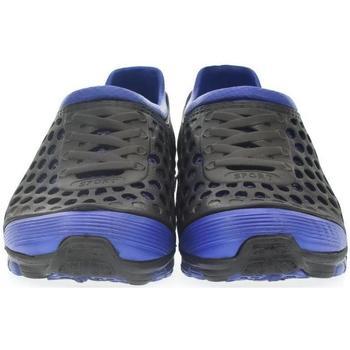 John-C Pantofle Pánske čierno-modré crocsy TENSO - Černá