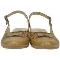 Boty Ženy Sandály John-C Dámske zlato-čierne sandále EVELINE zlatá