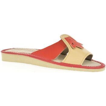 Boty Ženy Dřeváky John-C Dámske oranžové papuče TRIN oranžová