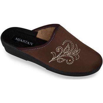 Boty Ženy Papuče Mjartan Dámske papuče  CHERISA 4 hnedá