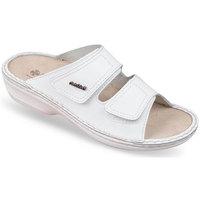 Boty Ženy Dřeváky Mjartan Dámske biele kožené šľapky  SIMA biela