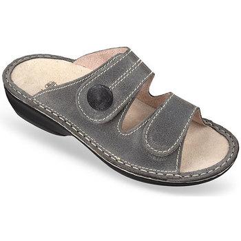 Boty Ženy Dřeváky Mjartan Dámske kožené šľapky  DOMI sivá