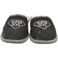 Boty Muži Papuče Bins Pánske čierne papuče OCKO čierna