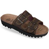 Boty Muži Dřeváky Mjartan Pánske papuče  IGGY hnedá