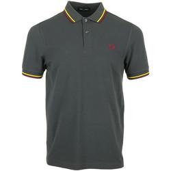 Textil Muži Polo s krátkými rukávy Fred Perry Twin Tipped Shirt Šedá