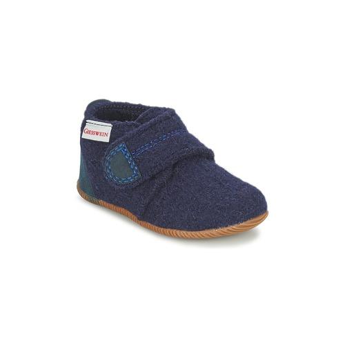 Boty Chlapecké Papuče Giesswein OBERSTAUFEN Modrá