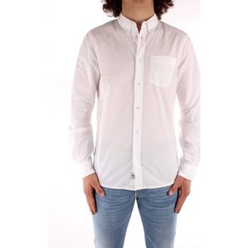 Textil Muži Košile s dlouhymi rukávy Blauer 21SBLUS01223 Bílá