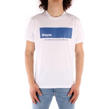 Textil Muži Trička s krátkým rukávem Blauer 21SBLUH02132 Bílá