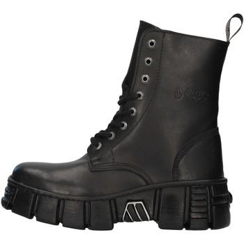 Boty Kotníkové boty New Rock WALL026NBASA Černá