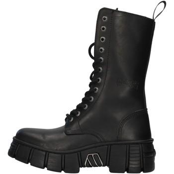 Boty Kotníkové boty New Rock WALL027NBASA Černá