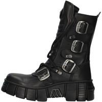 Boty Kotníkové boty New Rock WALL028N Černá