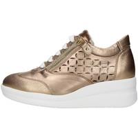 Boty Ženy Nízké tenisky Melluso R20228 Zlatá