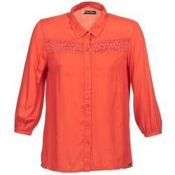 Textil Ženy Košile s dlouhymi rukávy Volcom KNOTTY Červená