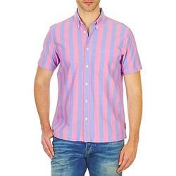 Textil Muži Košile s krátkými rukávy Ben Sherman BEMA00487S Růžová / Modrá
