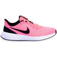 Boty Děti Nízké tenisky Nike Revolution 5 GS Bílé, Černé, Růžové