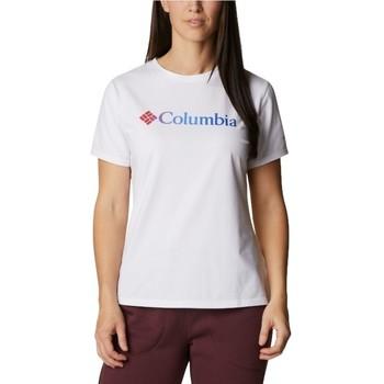 Textil Ženy Trička s krátkým rukávem Columbia Sun Trek W Graphic Tee Bílá