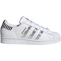 Boty Ženy Nízké tenisky adidas Originals Superstar Bílé, Stříbrné