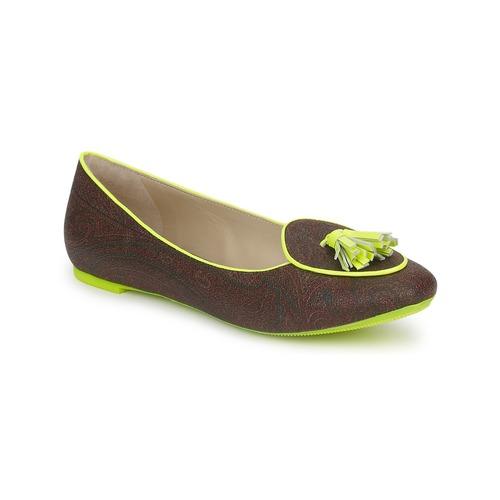 Boty Ženy Baleríny  Etro BALLERINE 3738 Brown / Citron