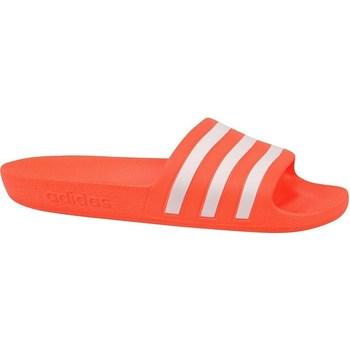 Boty Ženy Šněrovací polobotky  & Šněrovací společenská obuv adidas Originals Adilette Aqua Slides Bílé, Oranžové