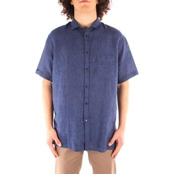 Textil Muži Košile s krátkými rukávy Trussardi 52C00213 1T002248 Modrá