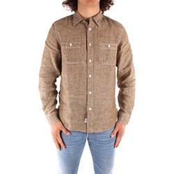 Textil Muži Košile s dlouhymi rukávy Blauer 21SBLUS01221 Hnědá
