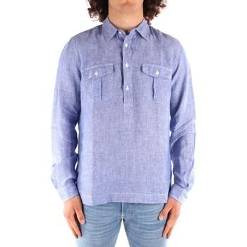 Textil Muži Košile s dlouhymi rukávy Blauer 21SBLUS01216 Modrá