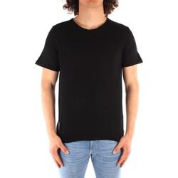 Textil Muži Trička s krátkým rukávem Blauer 21SBLUM01319 Černá