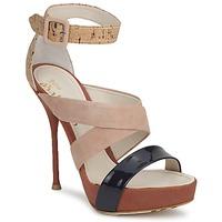 Boty Ženy Sandály John Galliano AN6363 Růžová / Tmavě modrá / Béžová