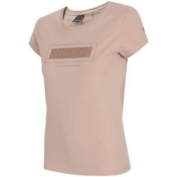 Textil Ženy Trička s krátkým rukávem 4F TSD034 Růžové