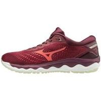 Boty Ženy Šněrovací polobotky  & Šněrovací společenská obuv Mizuno Wave Sky 3 Vínově červené