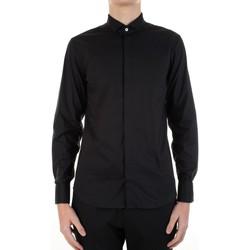Textil Muži Košile s dlouhymi rukávy Manuel Ritz 3030E652-213229 Černá