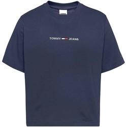 Textil Ženy Trička s krátkým rukávem Tommy Jeans DW0DW10057 Modrý