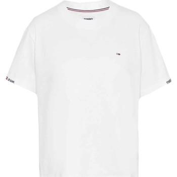 Textil Ženy Trička s krátkým rukávem Tommy Jeans DW0DW10130 Bílý