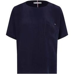 Textil Ženy Trička s krátkým rukávem Tommy Hilfiger WW0WW30301 Modrý