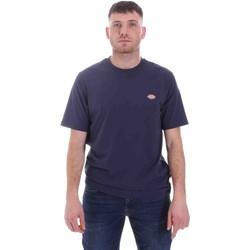 Textil Muži Trička s krátkým rukávem Dickies DK0A4XDBNV01 Modrý
