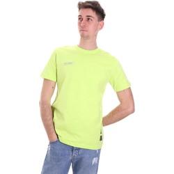 Textil Muži Trička s krátkým rukávem Disclaimer 21EDS50517 Zelený
