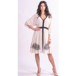 Textil Ženy Krátké šaty Fracomina F321SD2002W41801 Bezbarvý