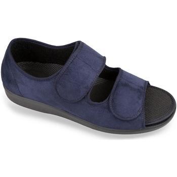 Boty Muži Papuče Mjartan Pánske modré sandále  MATEJ tmavomodrá