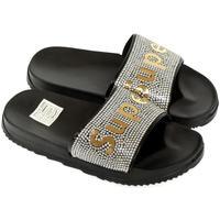 Boty Dívčí pantofle John-C Detské čierno-zlaté šľapky SUPER čierna