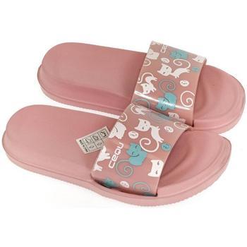 Boty Dívčí pantofle John-C Detské ružové šľapky MURA ružová