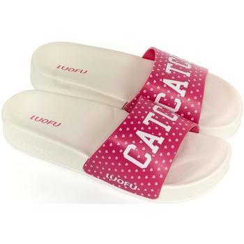 Boty Ženy pantofle Wink Dámske bielo-ružové šľapky CATCH biela
