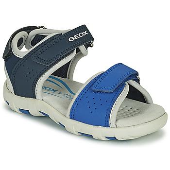 Boty Chlapecké Sandály Geox SANDAL PIANETA Modrá