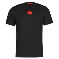 Textil Muži Trička s krátkým rukávem HUGO DIRAGOLINO Černá / Červená