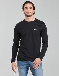 Textil Muži Trička s dlouhými rukávy BOSS TOGN CURVED Černá