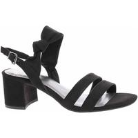 Boty Ženy Sandály Marco Tozzi Dámská společenská obuv  2-28300-24 black Černá