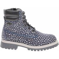 Boty Dívčí Polokozačky S.Oliver Dívčí kotníková obuv  5-36229-23 blue comb Modrá