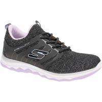 Boty Dívčí Běžecké / Krosové boty Skechers Diamond Runner - Sparkle Sprints black-lavender Černá