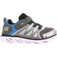Boty Chlapecké Nízké tenisky Skechers S Lights - Hypno-Flash 3.0 silver-blue Stříbrná