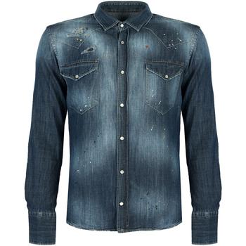 Textil Muži Košile s dlouhymi rukávy Takeshy Kurosawa  Modrá